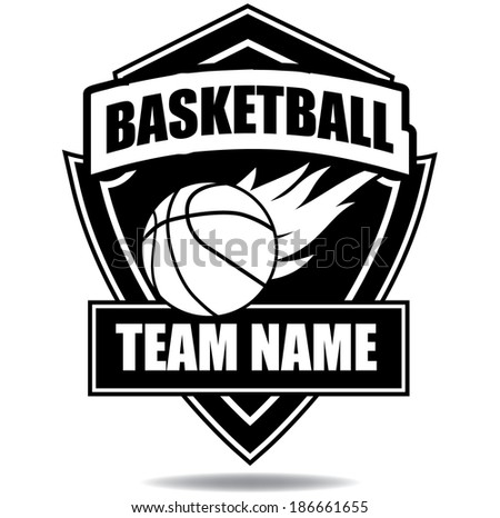 Basketball badge icon symbol  - stock photo