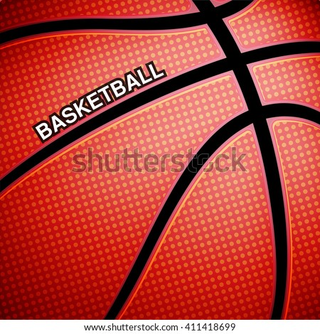 Basketball ball background - stock photo