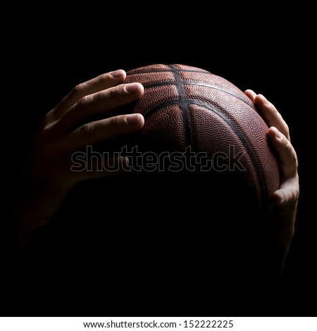 Basketball ball in a hands  - stock photo