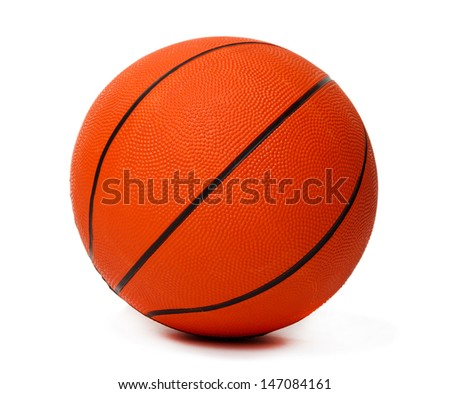 Basketball ball isolated on white - stock photo