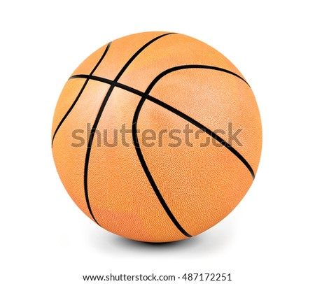 Basketball ball isolated on white background, 3D rendering
