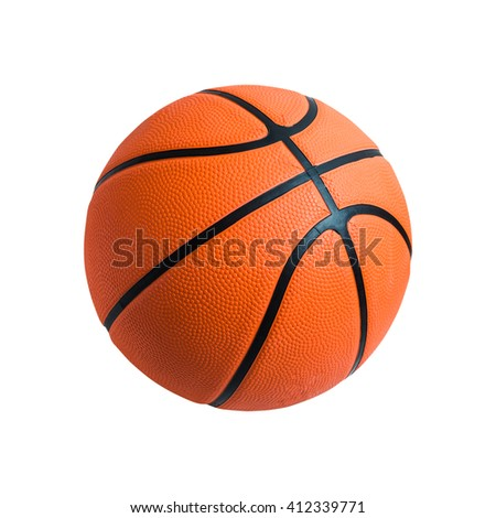 Basketball ball isolated on white background. orange color Basketball closeup image.  - stock photo