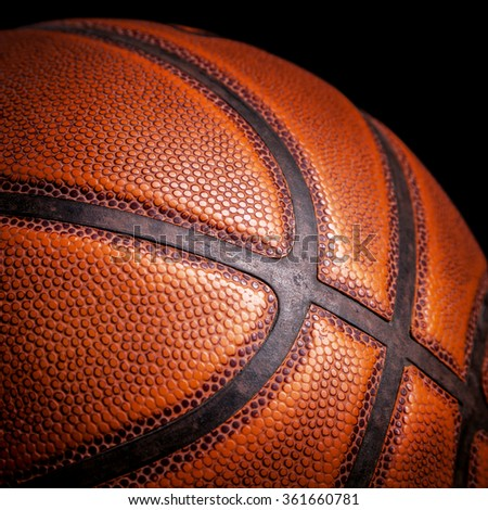 basketball ball on a black background - stock photo