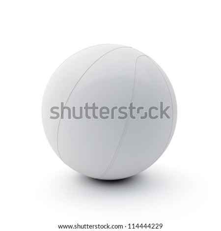 Basketball-Ball on White Background - stock photo