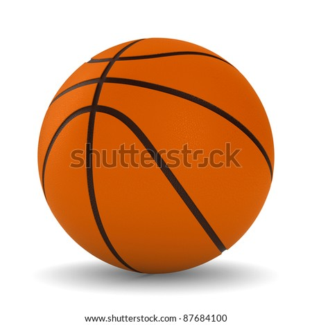 Basketball ball on white background. Isolated 3D image