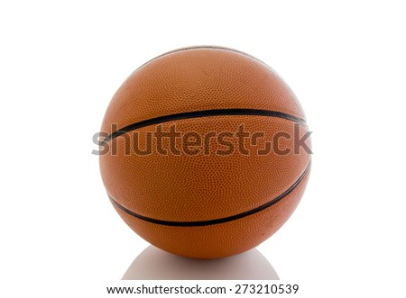 Basketball ball over white background - stock photo