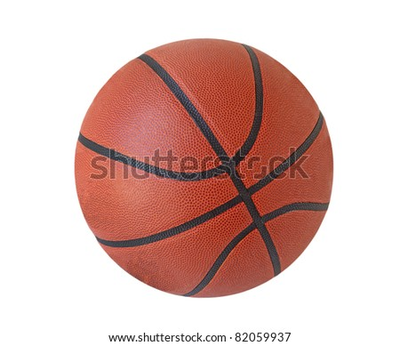 Basketball basket ball isolated on white background - stock photo