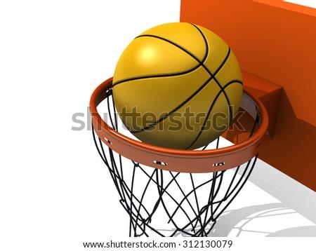 Basketball board.Basketball. - stock photo