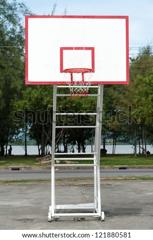 Basketball board in public sport center phuket, Thailand - stock photo