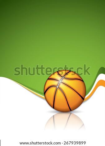 Basketball brochure - stock photo
