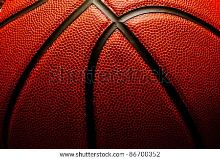 Basketball closeup - stock photo