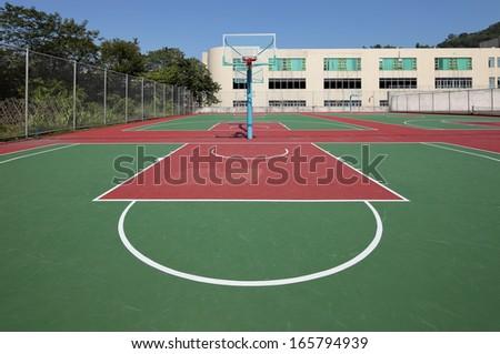 Basketball Court - stock photo
