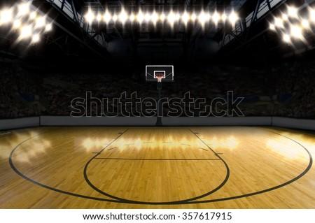 Basketball Court. - stock photo