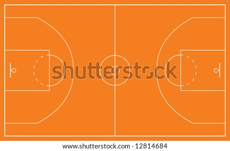 basketball court and all court markings