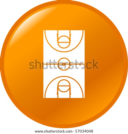 basketball court button - stock photo