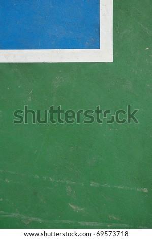 Basketball court floor - stock photo