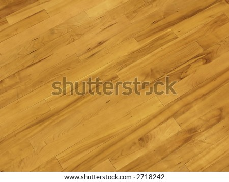Basketball Court Hardwood - stock photo
