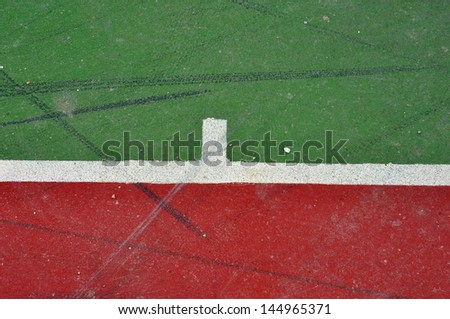Basketball court lines on painted concrete minimal grungy background. - stock photo