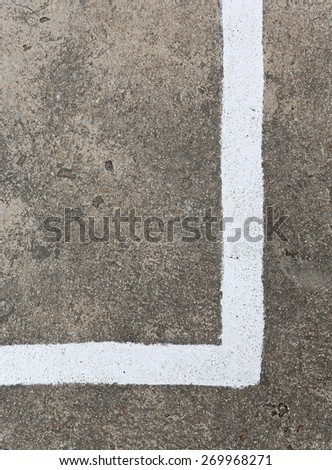 Basketball Field Line detail for Backgrounds or Texture - stock photo