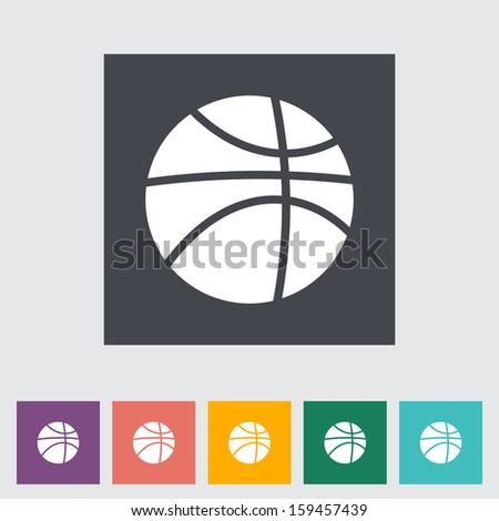 Basketball flat icon.  - stock photo