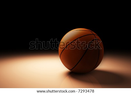 basketball high resolution - stock photo