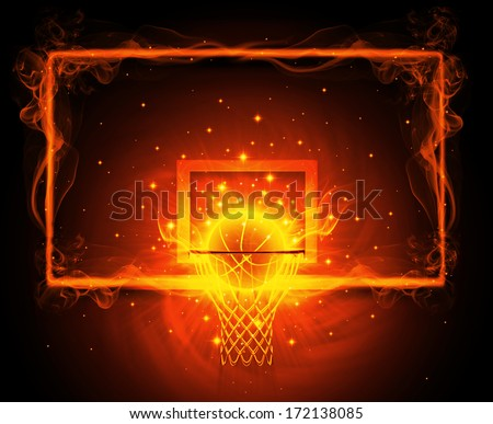 basketball hoop - stock photo