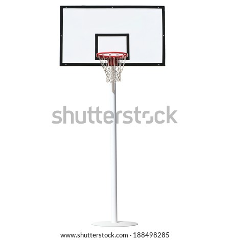 Basketball hoop isolated on a white background. - stock photo