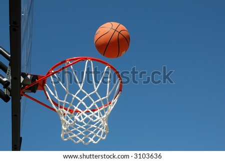 Basketball in Flight - stock photo
