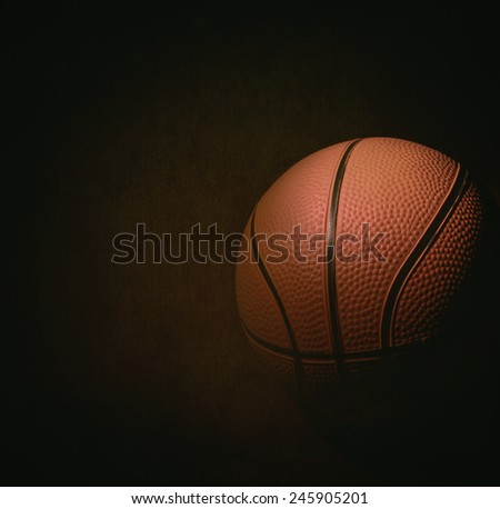 basketball in the dark background - stock photo