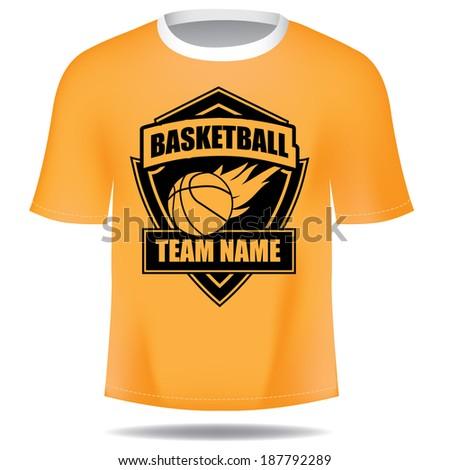 Basketball insignia tee - stock photo