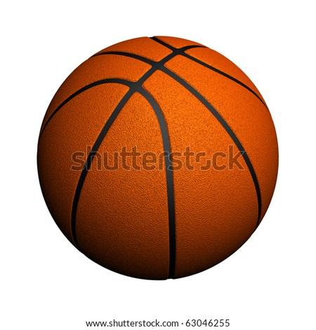 Basketball isolated - stock photo