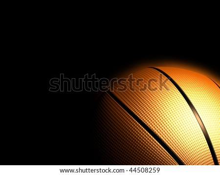 Basketball isolated black color - stock photo