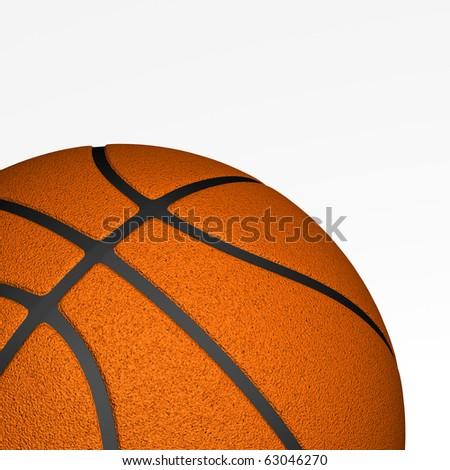 Basketball isolated closeup - stock photo
