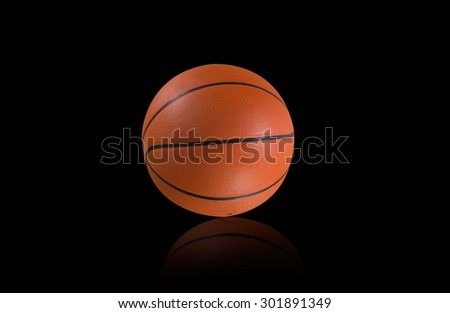 Basketball isolated on a black background - stock photo
