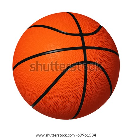 Basketball isolated on white background. - stock photo