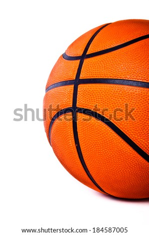 Basketball isolated on white background for wallpaper, background and texture.
