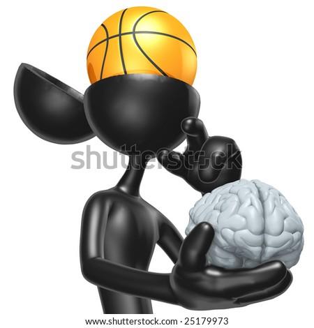 Basketball Mind - stock photo