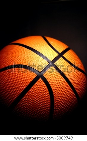 basketball on a dark background - stock photo