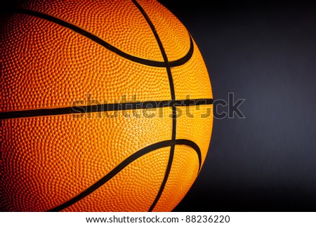 Basketball on a gray background. - stock photo