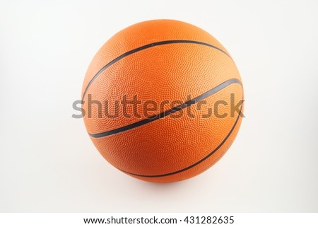 Basketball on isolate white background - stock photo