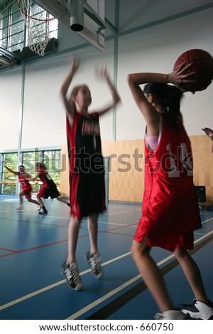 Basketball Pass - stock photo