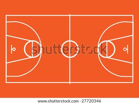 basketball pitch - stock photo