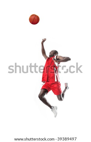 basketball player in action - stock photo