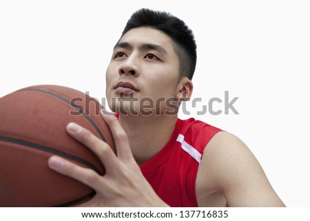Basketball Player Lining Up His Shot