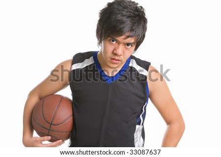 Basketball player pose to the camera
