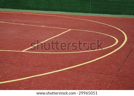 Basketball playground. Sports at the school concept - stock photo