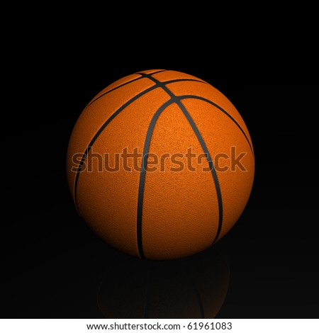 Basketball render - stock photo