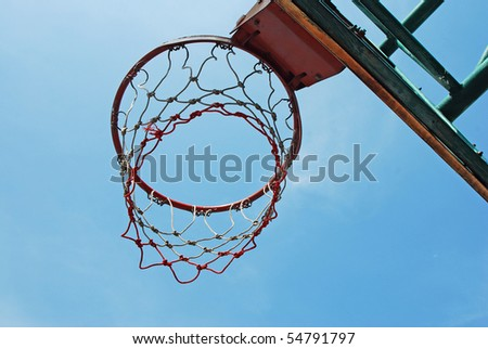 Basketball Ring in the game - stock photo