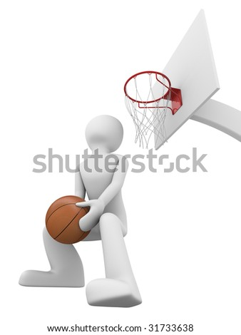 Basketball slamdunk 2 - stock photo