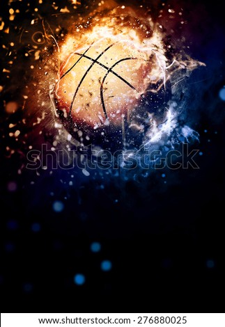 Basketball sport poster or flyer background with space